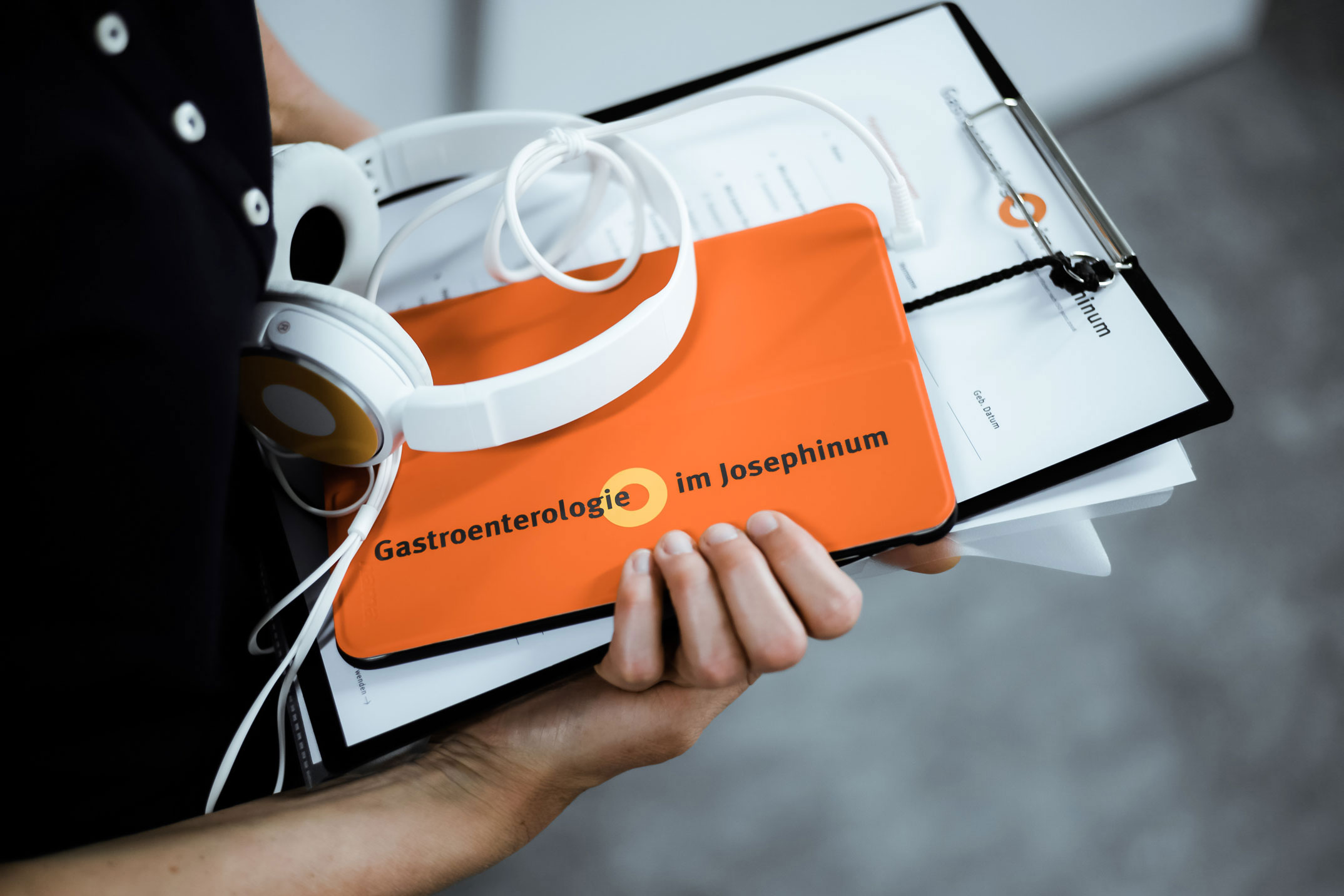 Informationsmaterialien in analoger und digitaler Form – Corporate Design Gastroenterologie im Josephinum